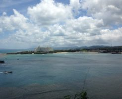 沖縄旅行の海